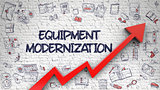 Equipment Modernization Drawn on White Wall.