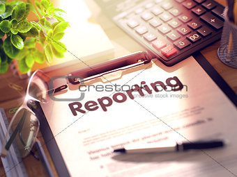 Clipboard with Reporting Concept. 3d
