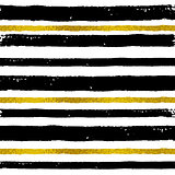 Background with black and golden strips