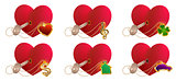 Key love is to open heart shaped lock. Valentines day heart symbol love