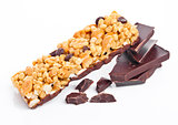 Chocolate protein cereal energy bar dark chocolate