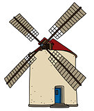 The old strone windmill