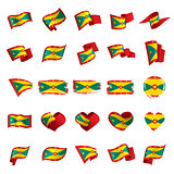 Grenada flag, vector illustration