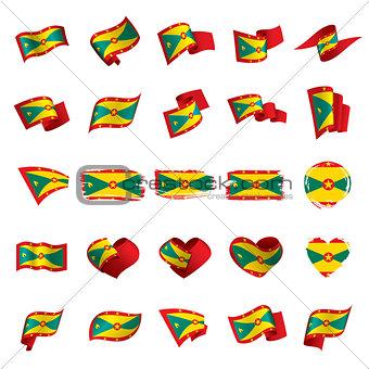 Grenada flag, vector illustration
