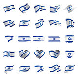 Israel flag, vector illustration