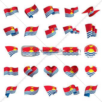 Kiribati flag, vector illustration