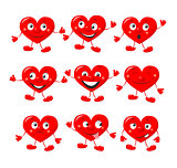 Funny red hearts