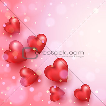 Abstract background to the Valentine`s day.