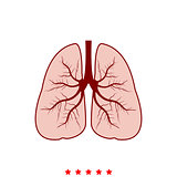 Lungs it is icon .