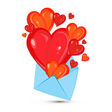 envelope and heart