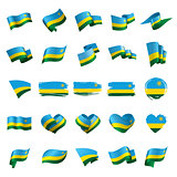 Rwanda flag, vector illustration