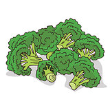 Isolate ripe broccoli stalks