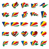 Seychelles flag, vector illustration