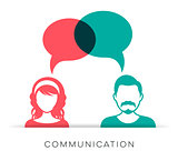 Man and woman communication icon