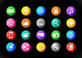 Vector social media and website buttons
