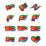 Eritrea flag, vector illustration