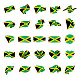 Jamaica flag, vector illustration
