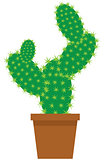 Vector Cartoon Cactus