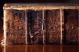 Old Holy Bible Close Up