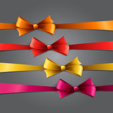 Set of color bow