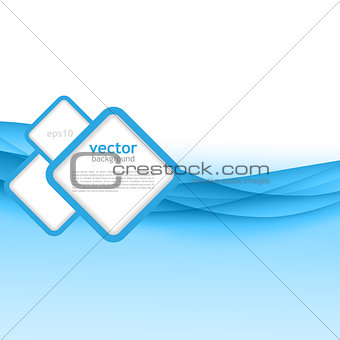 Abstract colorful blue vector waved background