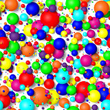 Seamless background of colorful bubbles.