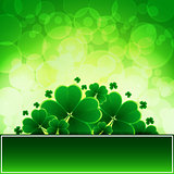 Vector Happy Saint Patricks Day Background with clover