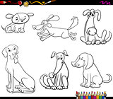 comic dog characters coloring book