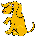 cute yellow dog cartoon comic character