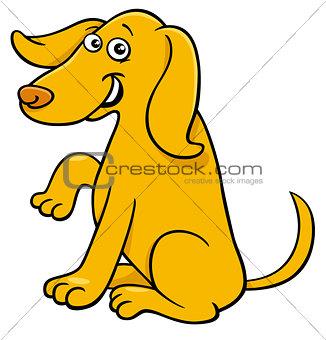 cute yellow dog cartoon comic character