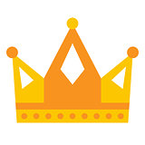 Golden yellow crown icon symbol