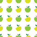 Apple green white seamless pattern background