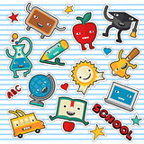 Education and school cute stickers and patches