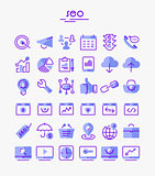 SEO thin linear icons