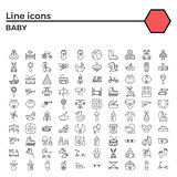 Baby flat vector icon set
