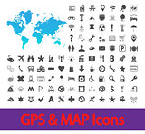 Navigation map icons.