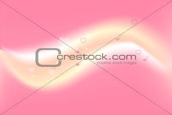 Romantic Happy Valentines Day background. Vector design.