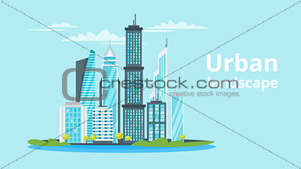 city landscape. Urban skyline.