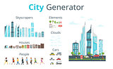 cartoon style city generator