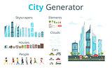 cartoon style city generator