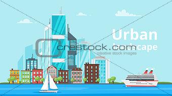 city landscape. Urban skyline.