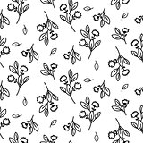 Tiny floral seamless simple vector pattern.