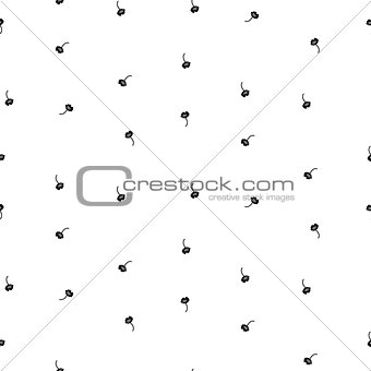 Tiny simple floral seamless simple vector pattern.
