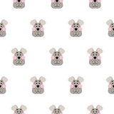 Cute dog seamless pattern cartoon design vector.