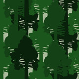 Camo forest green seamless vector pattern.