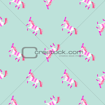 Circus horse silhouette simple seamless vector pattern.