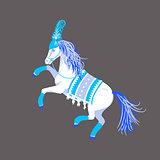 Circus horse vector illustration.