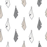 Hanging towels seamless vector pattern.