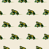 Cute camo mice design seamless vector pattern.