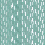 Rain shapes tiny blue retro seamless vector pattern.